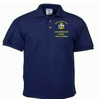 USS BORDELON  DD-881  NAVY ANCHOR EMBROIDERED LIGHT WEIGHT POLO SHIRT