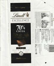 LINDT CHOCOLATE BAR 70% COCOA DARK CHOCOLATE 100G 2006