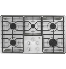 """GE 36"""" Gas 5-Burner Stainless Steel Cooktop w/ Hoses and Connectors JGP3036SLSS"""
