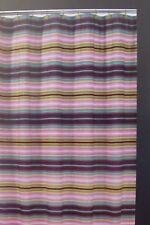 "Echo Design Pleated Stripe Fabric Shower Curtain 72"" x 72"" NIP"