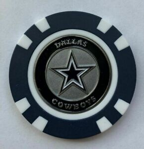 Team Golf Dallas Cowboys Poker Chip With Magnetic Ball Marker