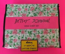 ❤️BETSEY Johnson KING Sheet Set PLAID ROSES 4 PC MICROFIBER - FREE SHIPPING!!❤️