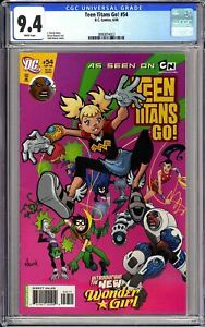 Teen Titans Go! #54 CGC 9.4 WP 2008 3890874022 Introducing New Wonder Girl!