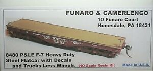 Funaro  F&C HO  P&LE F7 Heavy Duty Steel Flatcar  Kit 8480