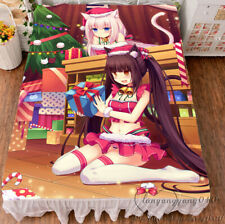NEKOPARA Game Sexy & Cute Anime HD Flannel Blanket Bedding Flat Bedsheet  59""