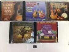 LOT OF 5 CD'S Flat Top Box Bluegrass  Country Guitar Burnin Up Strings Banjos E6