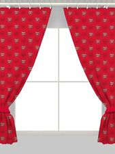 "Arsenal FC Football Club Crest 66""x72"" Ready Made Curtains Set Boys Kids Bedroom"