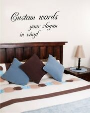Wall Words Decal Art Vinyl Sticker Home Decor CUSTOM
