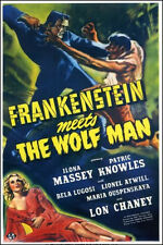 "1943 Frankenstein Meets the Wolfman Movie Poster Replica 13x19"" Photo Print"