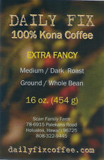 Pure 100% Kona Coffee - 1 LB Prime Green Beans from Award-Winning Estate