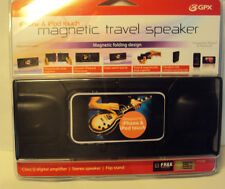 Gpx iPhone & iPod Touch Black Magnetic Travel Stereo Speaker Flip Stand Sp300B