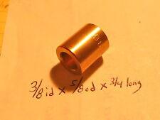Bronze Bushing Bearing New 3/8 id x 5/8 od x 3/4 Brass motor gearbox oilite new