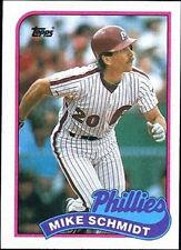 1989 Topps Mike Schmidt Philadelphia Phillies #100 Baseball Card