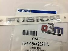 "Ford Fusion Rear trunk Chrome ""FUSION"" Nameplate Emblem OEM 6E5Z-5442528-A new"