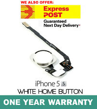 iPhone 5S Home Button Flex Cable Finger Fingerprint Scanner Sensor WHITE OEM New