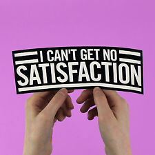 "Rolling Stones Sticker! ""I Can't Get No Satisfaction"", mick jagger 1960s rock"