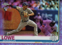 BRANDON LOWE RC 2019 Topps Chrome PINK REFRACTOR CARD# 151 TAMPA BAY RAYS ROOKIE