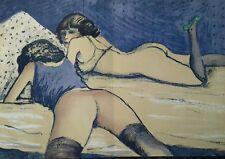 Jean Pierre Cassigneul : Lithographie Originale. Nu féminin.