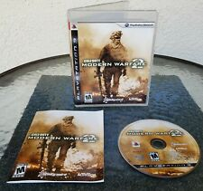 Call of Duty Modern Warfare 2 MW2 Sony PlayStation 3 PS3 Video Game With MANUAL