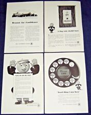 Lot of 4 Ads from 1943 ~ At&T Bell Telephone System ~ Some with Wwii theme