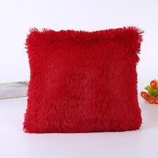Soft Plush Square Pillow Case Sofa Waist Throw Cushion Cover Home Decoration