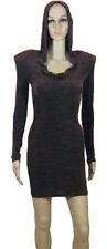 Brian Lichtenberg, Women's  Hooded Glitter Dress.Brown,Medium