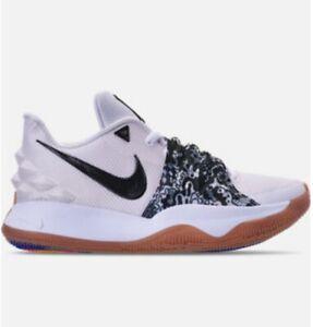 Men's Nike Kyrie 4 Low Basketball Sneaker White Black Gum Bottom Sizes 11 & 13