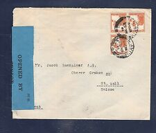 4) Palestine cover 1941 censored to St. Gallen Switzerland