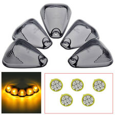 5X Roof Top Lamp Smoke Cab Light Lens+5X Free LED lamps For Ford F250 F350 F450