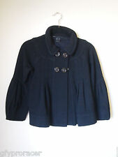 MARC BY MARC JACOBS Black Cropped Pleated Babydoll Jacket Size S