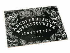 Black Wooden Ouija Spirit Board Game With Planchette and Detailed Instruction