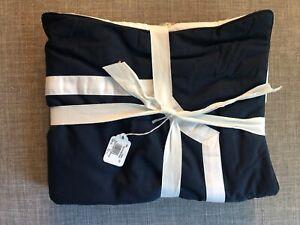 New Pottery Barn Bergen Reversible Pillow Sham Midnight Blue Standard Buttons