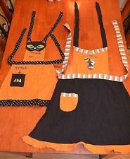 CUTE  Halloween Apron Set Mommy and Me Cookies baking adult and child size
