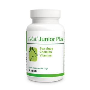 Dolvit Junior Plus Vitamins Minerals Sea algae Prebiotics for Dogs 90 tablets