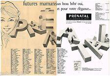 C- Publicité Advertising 1959 (2 pages) Vetements de Grossesse enfants Prénatal