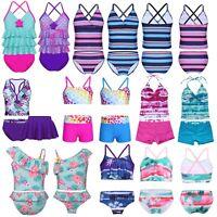Toddler Kids Baby Girls Floral Tankini Swimwear Swimsuit Bikini Set Bathing Suit