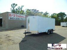 7 x 14 14ft Motorcycle Bike Harley UTV ATV Mower Camping Enclosed Cargo Trailer