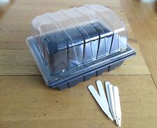 5 x HALF SIZE SMALL PROPAGATORS FOR GROWING ON SEEDS AND PLANTS - PLANT LABELS