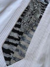 Oaktree Silk Necktie Black Gray White Abstract