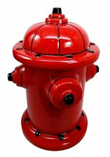 Red Fire Water Hydrant Ceramic Cookie Jar Fireman Firefighter Snack Jar