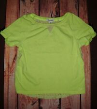 AEROPOSTALE YELLOW FLORAL LACE SWEATSHIRT WOMENS SIZE SMALL