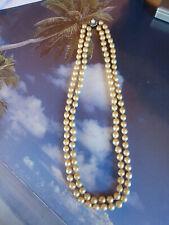 Doppelte Perlenkette mit Kettenschließe - echte Perlen !!!