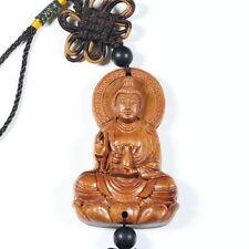 BUDDHIST ROSEWOOD PRAYER BUDDHA AUM PENDANT AMULET