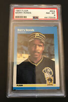 1987 Fleer Barry Bonds RC Pittsburgh Pirates PSA 8