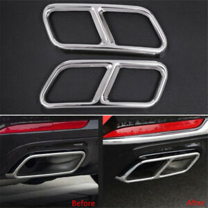 For Mercedes Benz S Class W222 C217 Dual Exhaust End Pipe Muffler Tip Trim Cover