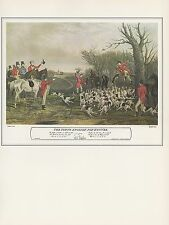 "1974 Vintage HUNTING ""THE YOUNG ENGLISH FOX HUNTER"" COLOR Art Print Lithograph"