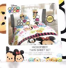 "Disney Tsum Tsum  ""faces"" Twin Sheet Set NWT"