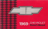 1969 CHEVROLET car owners manual