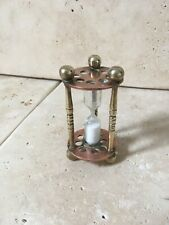 More details for lovely decorative good quality antique copper & brass egg timer - 3.9 inches