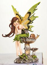 """Artist Amy Brown 'Thinking of You' Elven Forest Faery Fairy 6"""" Statue Figurine"""